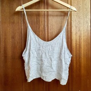 Brandy Melville Grey Floral Crop